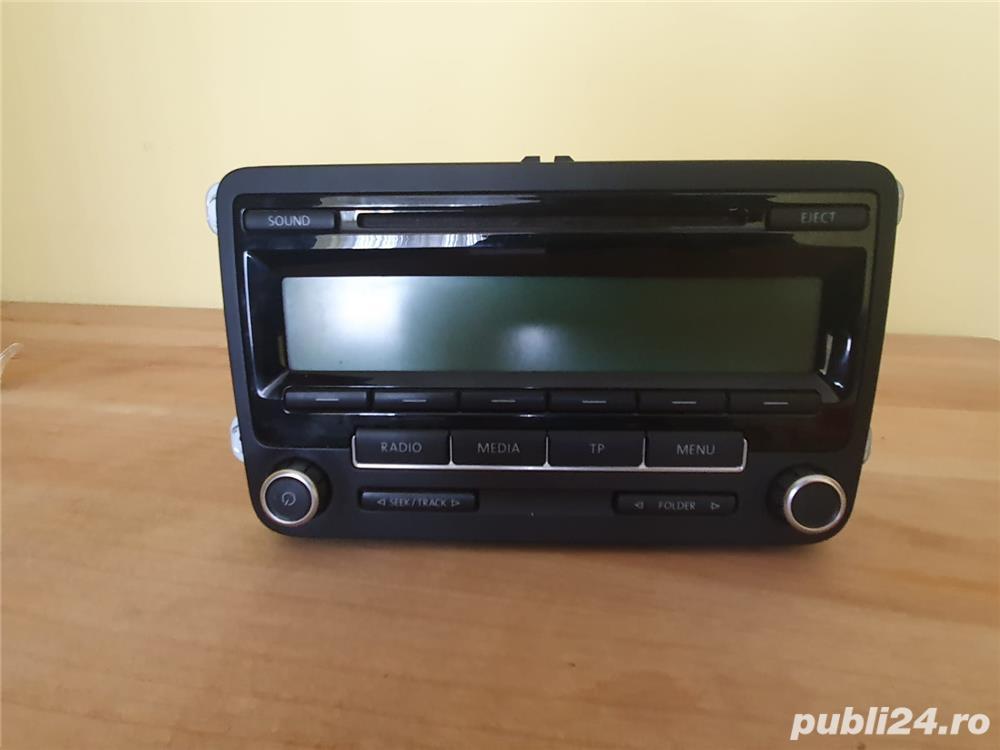 Casetofon cu CD original VW Passat 6, Golf 5-6, Tiguan, Jetta, Touran