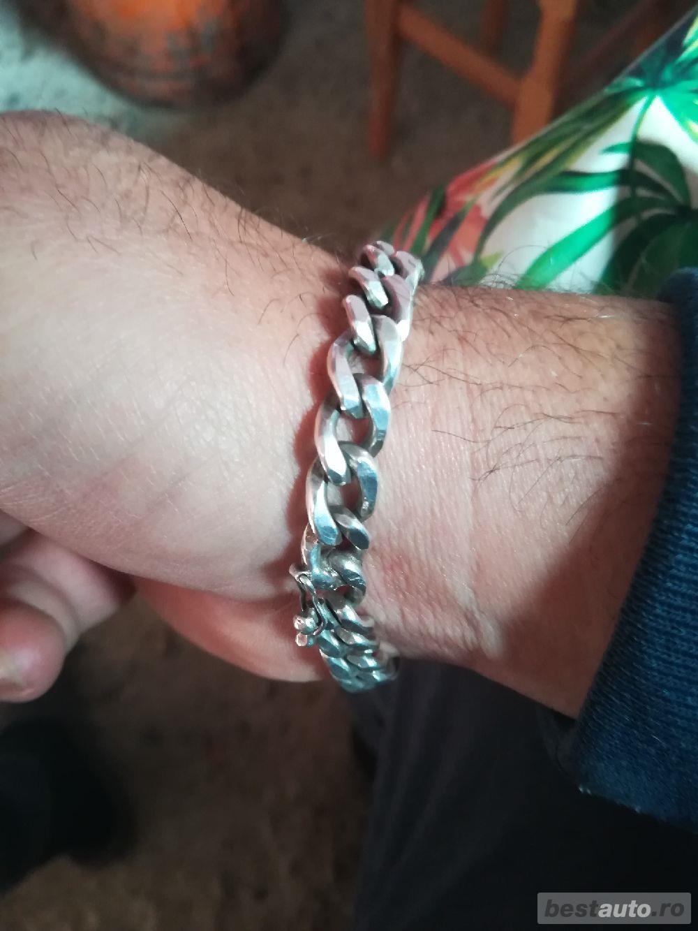 Brățară argint masivă 40 de grame de 800