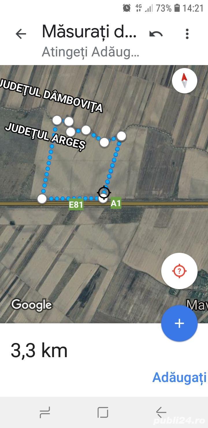 Teren arabil la A1- primul plan