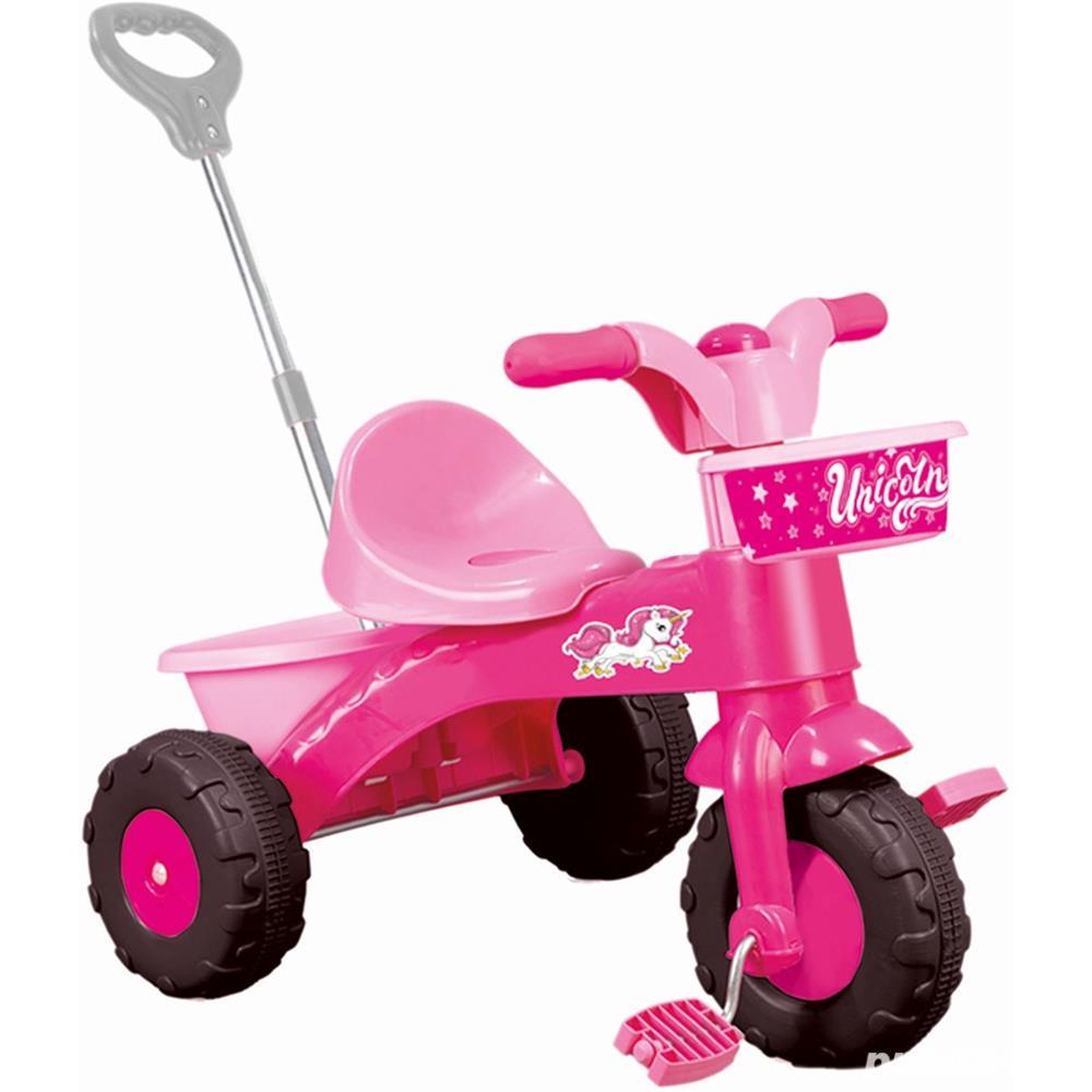 Prima mea tricicleta roz cu maner - Unicorn 64 x 52 x 50 cm