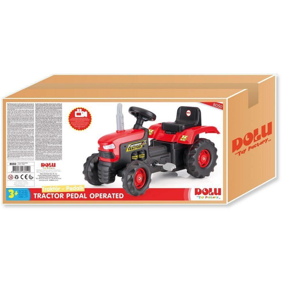 Tractor cu pedale Dolu 1554 inaltime - 52 cm, latime - 43 cm, lungime 239 lei