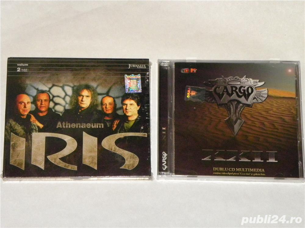 "CD uri rock: IRIS-,,Athenaeum"" (2cd), CARGO - ,,XXII"" (2cd)-(sigilate)"