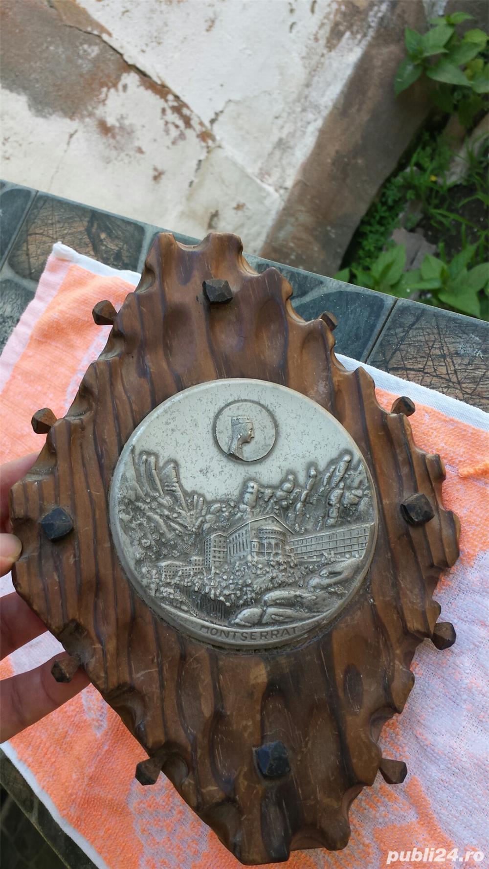 Tablou lemn/zinc vintage