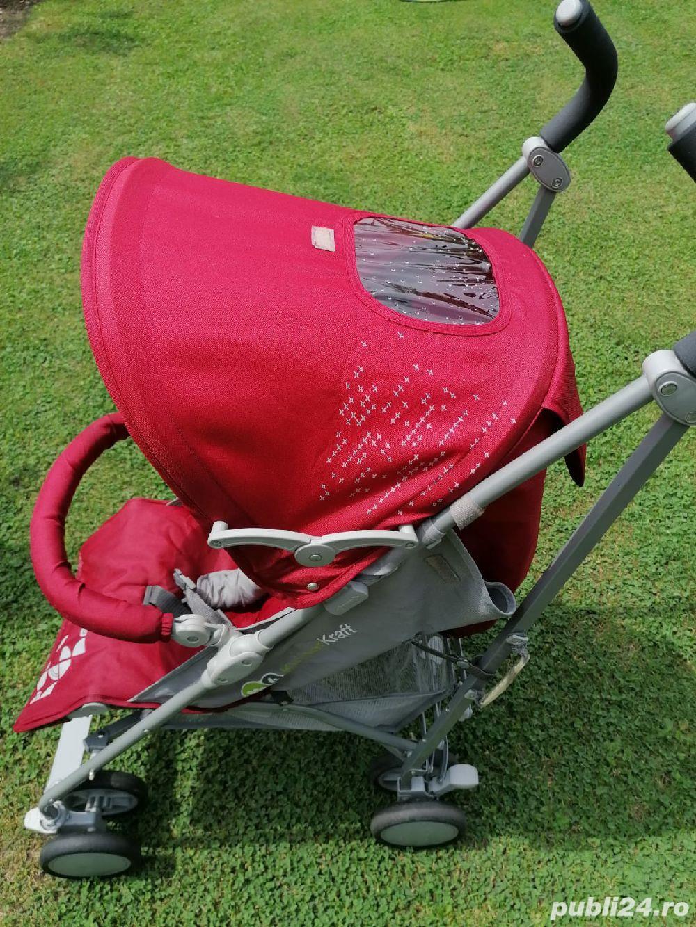 Carucior sport KinderKraft Buggy Prestige Dark Red