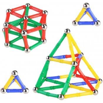 Set De Constructie Magnetic 3D, 37 Piese, 169BZ