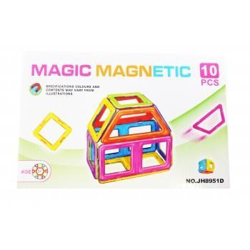 Set De Constructie Magnetic 3D, Magnetic Magic Power, 10 Piese, 4MG