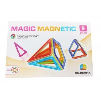 Set De Constructie Magnetic 3D, Magnetic Magic Power, 9 Piese, 5MG