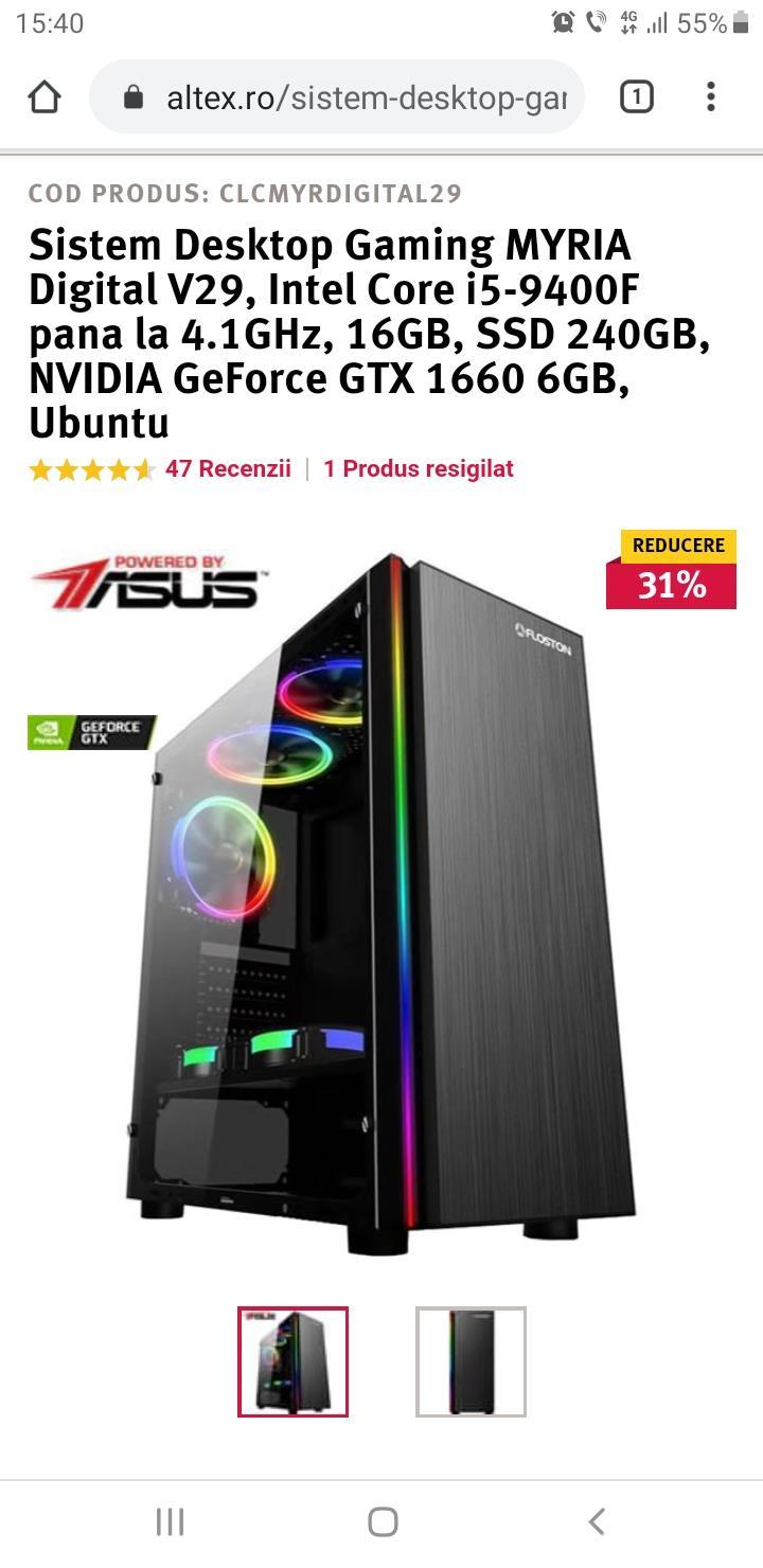 System desktop gaming