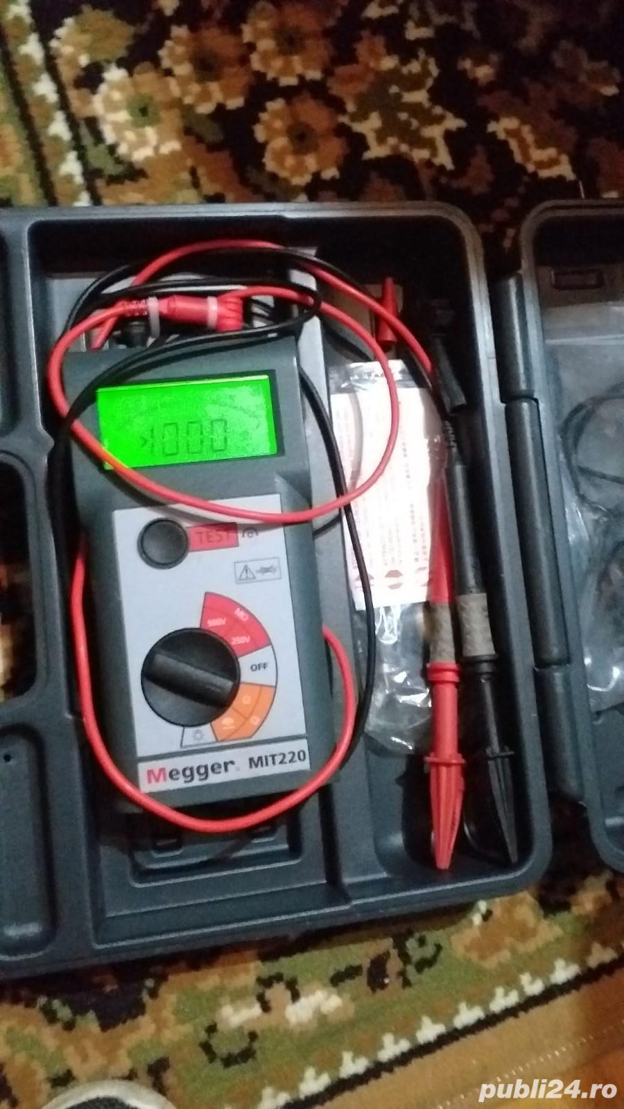 Megger MIT220 250V/500V Tester de izolatie si continuitate cu alarma