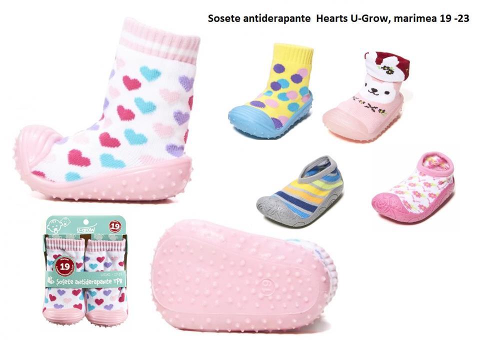 Sosete antiderapante  Hearts U-Grow, marimea 19 -23