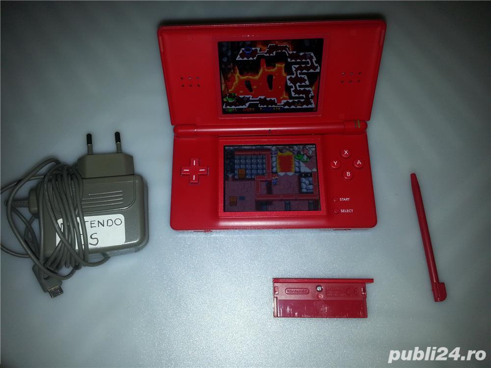 Consola Nintendo DS Lite USG 001 cu alimentator , stylus