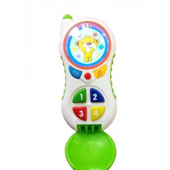 Telefon interactiv, educational pentru copii cu butoane care emit diverse melodii Telefon Interactiv