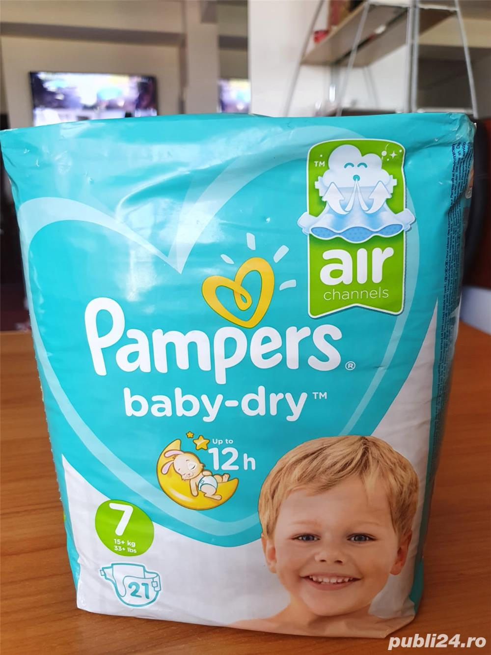 Scutece Pampers Nr 7 Baby Dry 15kg. 21buc