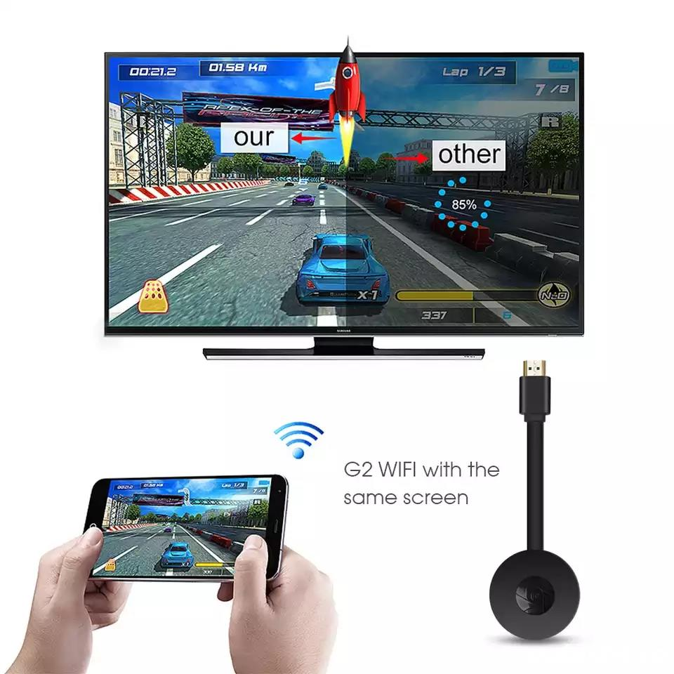 Mirascreen WiFi Wireless Display Dongle HDMI Adapter Chromcast TV Receiver 4K 1080P G2