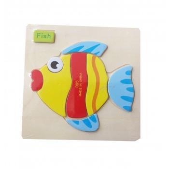 Puzzle Lemn Fish, 117BZ-2