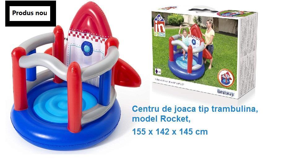 Centru de joaca tip trambulina, model Rocket, 155 x 142 x 145 cm
