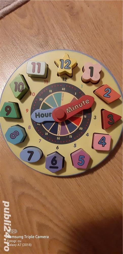 Jucarie ceas lemn