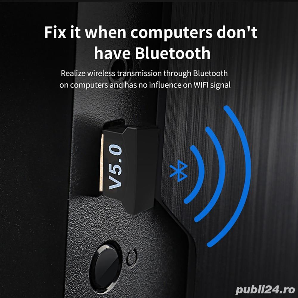 Adaptor stick Bluetooth 5.0 pentru PC, laptop usb receiver