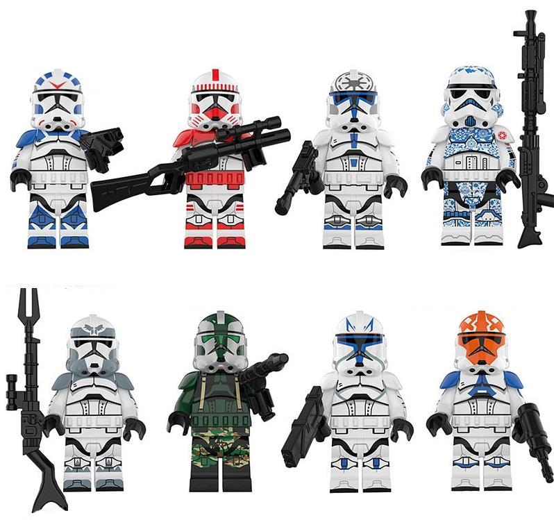 Set 8 Minifigurine tip Lego Star Wars cu Soldati Clone pack2