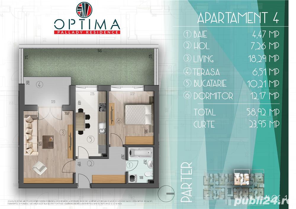2 camere+ curte 23mp, Ozana -metrou 1 Decembrie