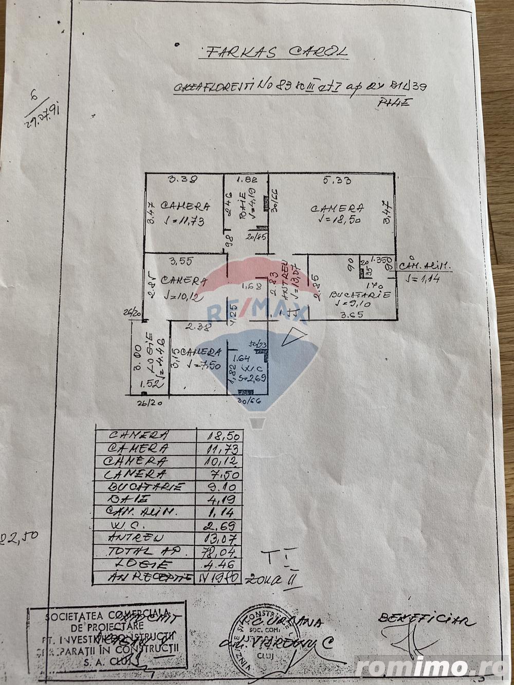 COMISION 0%  Apartament cu 4 camere de vânzare   zona Manastur