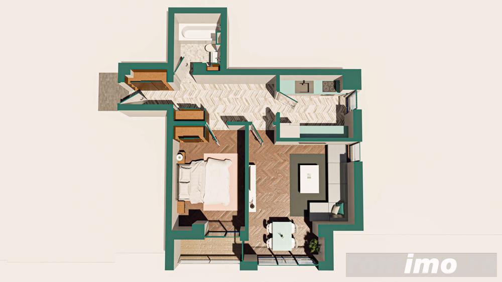 Copou - Apartament 2 camere / Proiect nou / comision 0