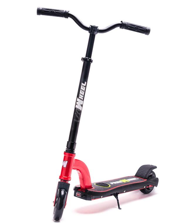 Trotineta electrica pentru copii Racing rosie, Noua Garantie 24 Luni, Viteza 15 kmh Autonomie 12 km