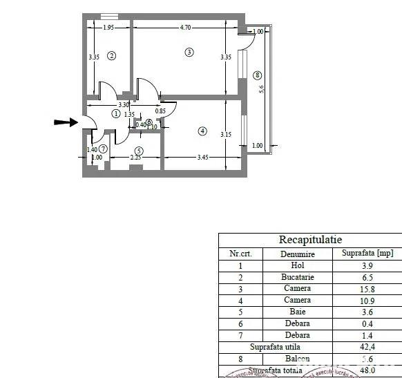 Vand apartament 2 camere, confort 1 ,decomandat in Ploiesti - acceptam Prima Casa/Noua Casa