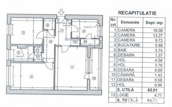 Apartament 3 camere Obregia-Stupilor ID: 6862