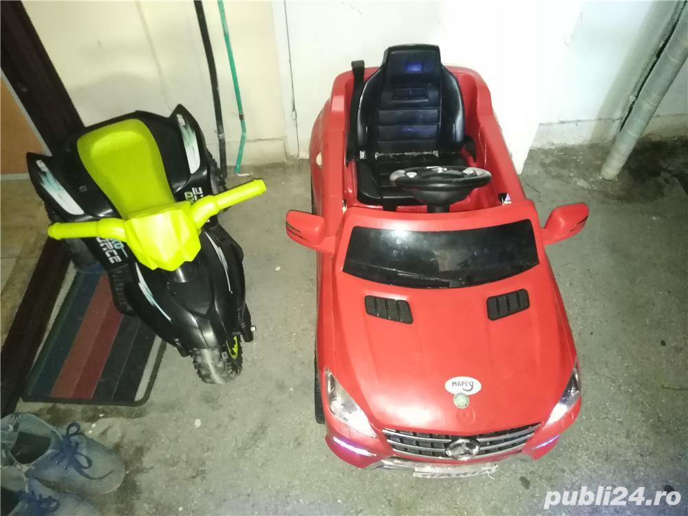 Vând mașinuța și motor electric!
