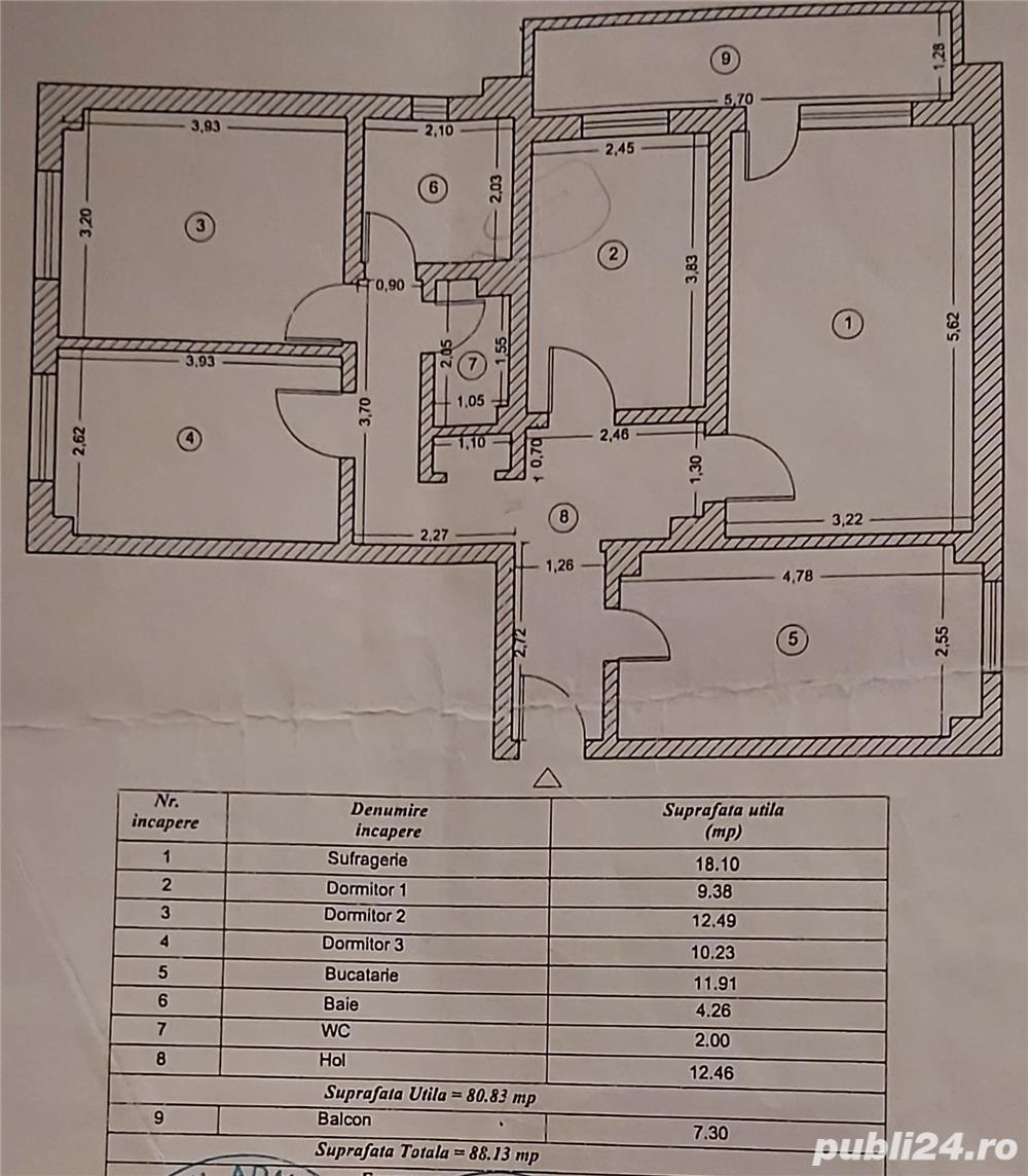 Apartament 4 camere zona Gării