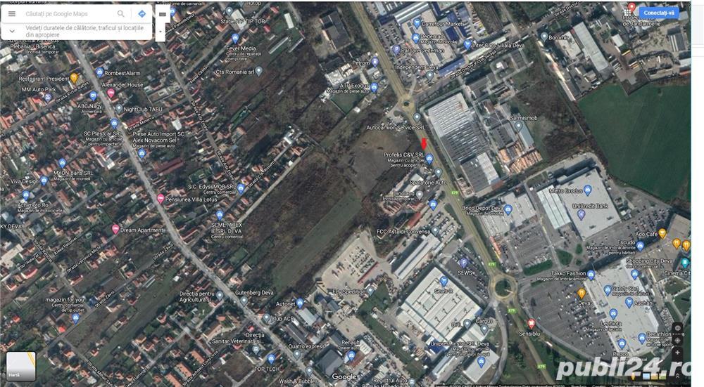 Vand teren in inima comerciala a orasului Deva, Calea Zarandului 150A