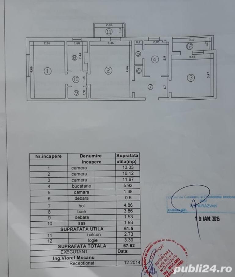 Vanzare apartament 3 camere - Tatarasi Flux - etajul 1
