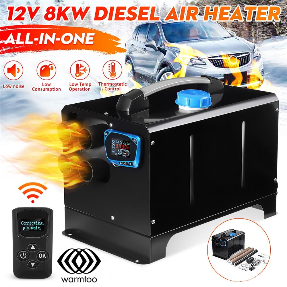 Incalzitor  PARCARE AUTO_Warmtoo 12V 8KW Car Parking Heater All-in-one LCD Display Diesel Air Heater