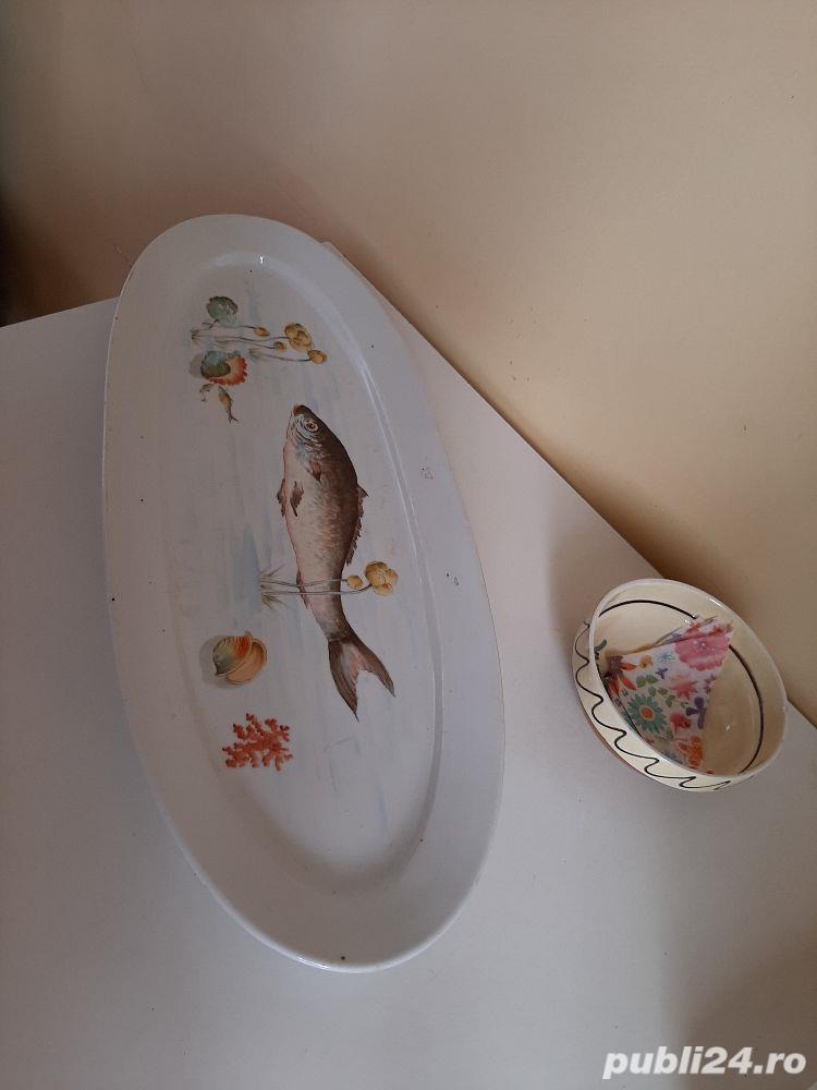 Vând vas ceramică, fabricat cca (anii1800 )