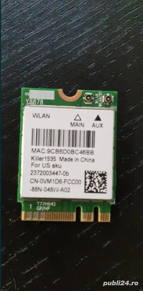 Killer Intel Wireless-AC N1535 WiFi Card Bluetooth 4.1