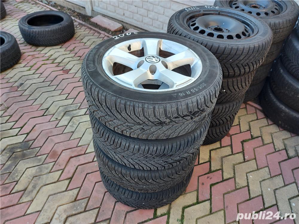 Jante 16 VW 5x112 cu cauciucuri iarna 205 55 16
