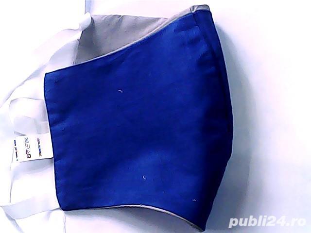 mască de protecție dublu strat- gri- albastru