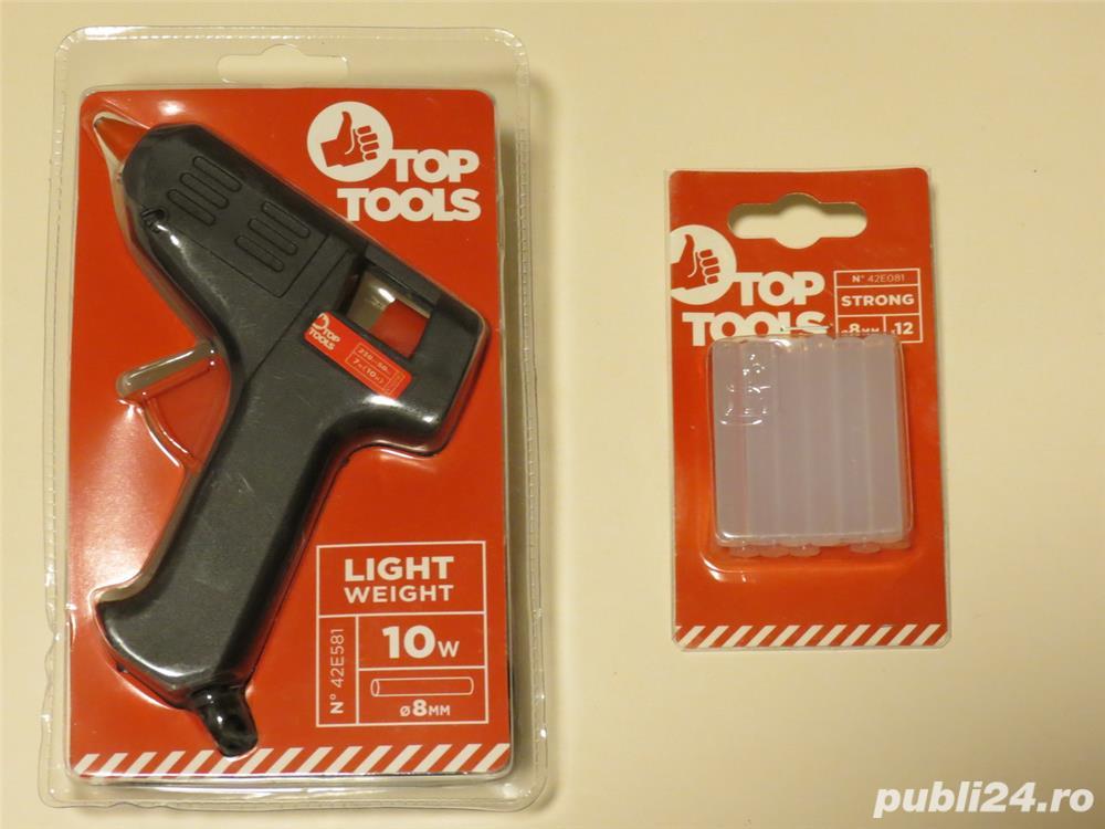 Pistol de lipit cu bare silicon 10w + 12 bare silicon