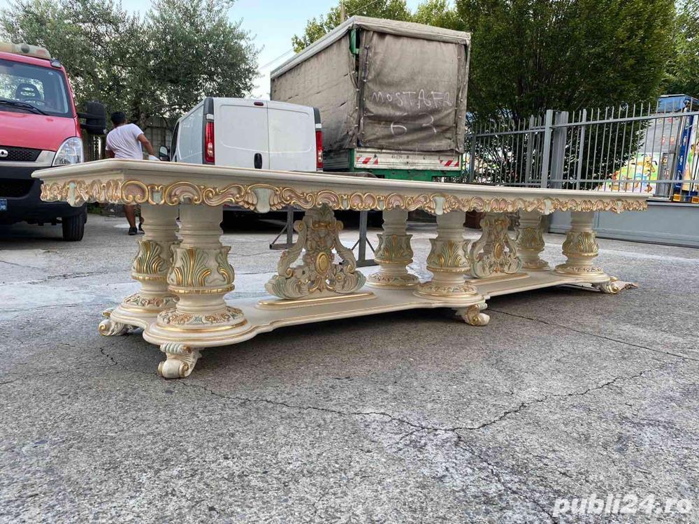 Masă cu scaune stil barocco veneziano