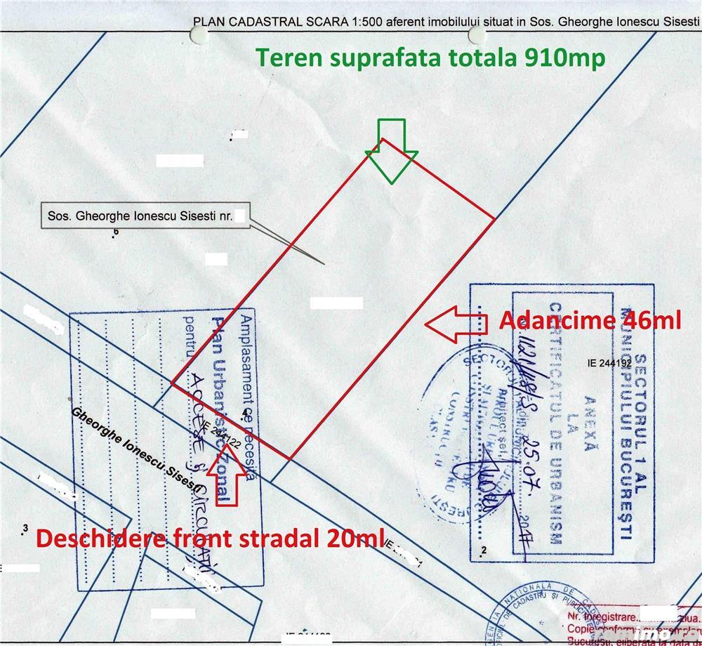 Teren Baneasa-Romatsa Sisesti-910mp/20 deschidere.