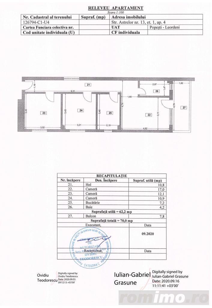 Apartament 3 camere Mutare Imediata Metrou Dimitrie Leonida Popesti