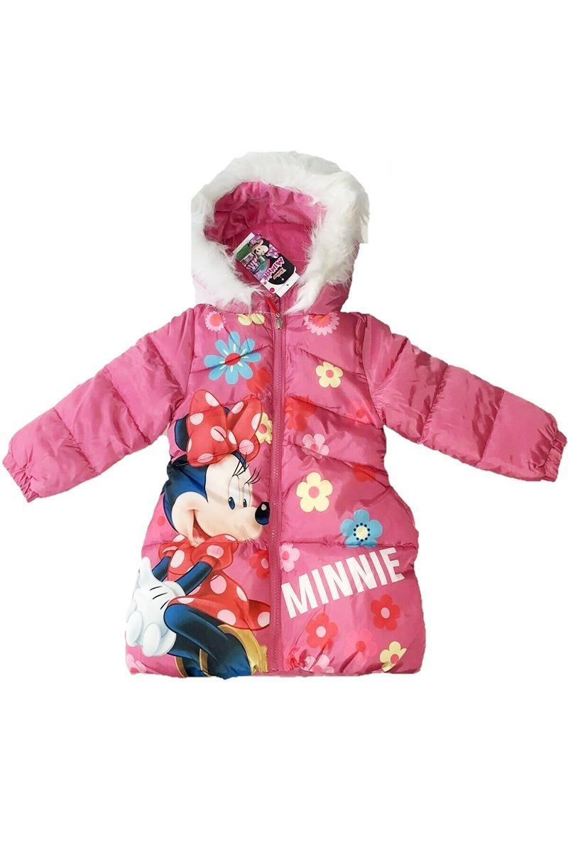 Geaca de iarna roz Minnie Mouse Flowers