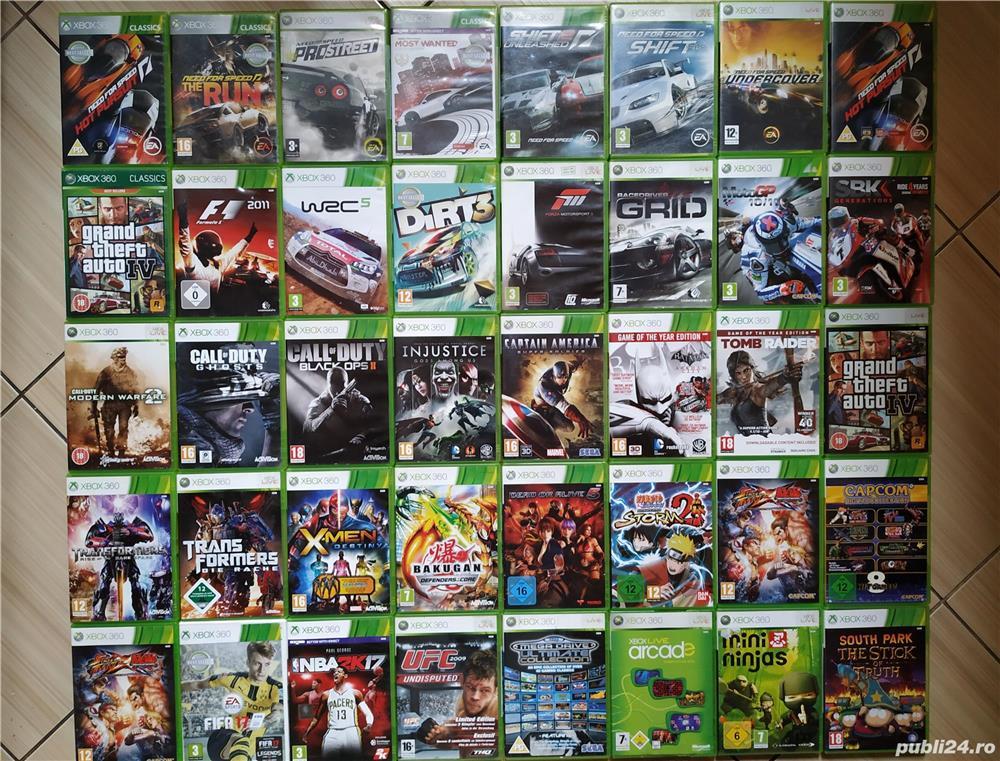 Xbox 360: GTA, FIFA17, UFC, NFS, MotoGP, Call Of Duty, F1, Forza, WRC5, Dirt 3, Captain America, etc