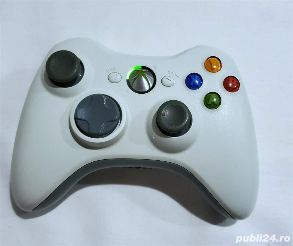 Controller/Maneta/Joy-stick Black-White Original Microsoft Xbox360