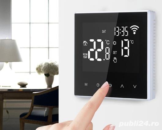 Termostat WIFI compatibil Alexa, Google home, pentru IPAT si IPEL
