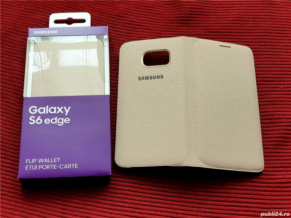 Husa Originala Flip wallet pt Samsung Galaxy S6 EDGE Noua!Activa-Carcasa