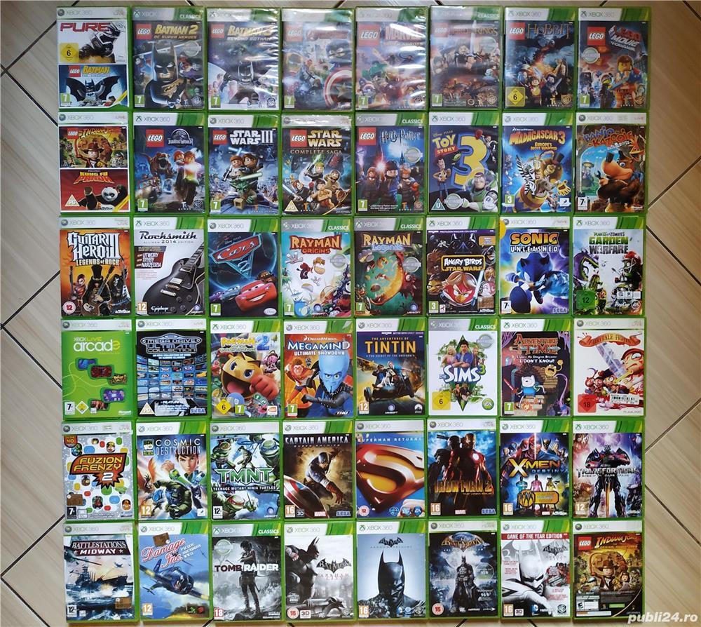 Xbox 360: Lego, Rayman, Iron Man, Superman, Batman, Transformers, ToyStory, Ben 10, Cars, Sims 3,etc