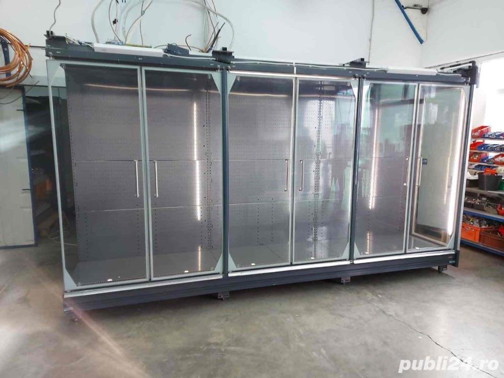 Raft frigorific cu uși de sticlă pentru băuturi/carne și mezeluri