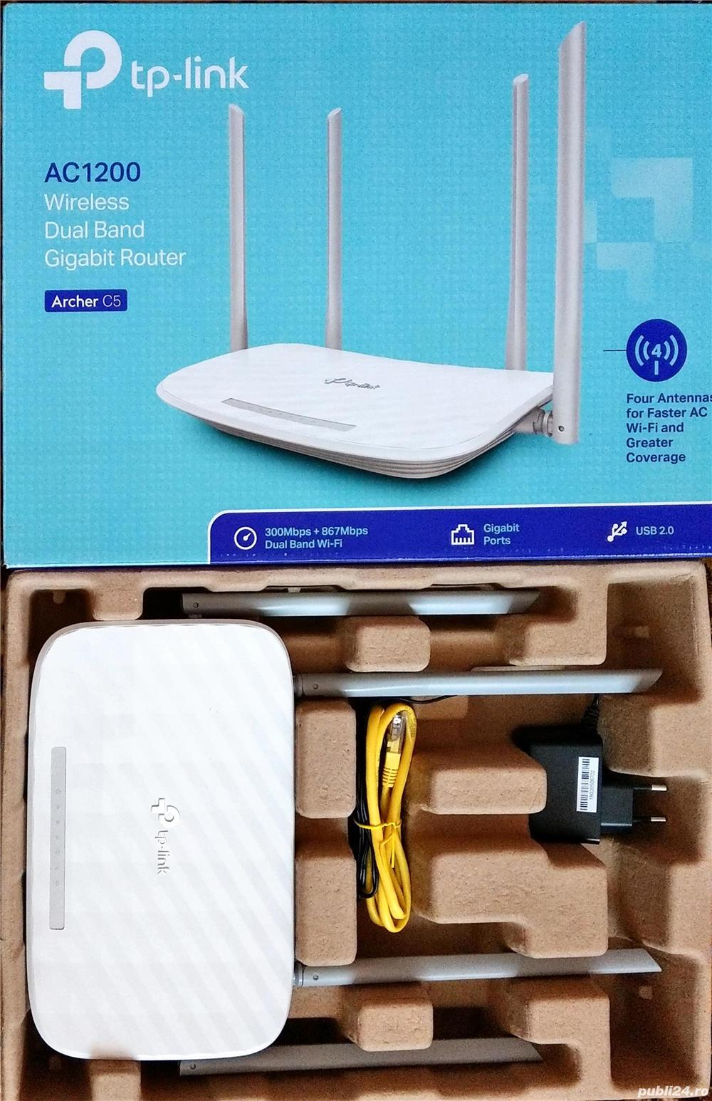 Router wireless TP-LINK Archer C5 V4.0 AC1200 Wireless Dual Band